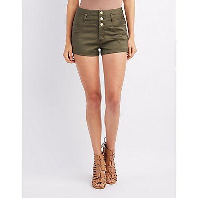 Refuge High-Rise Shortie Shorts