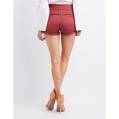 Refuge High-Rise Shortie Shorts