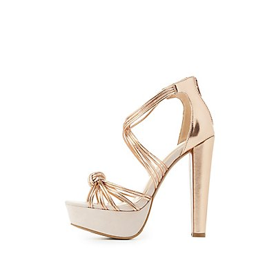 Knotted Platform Dress Sandals