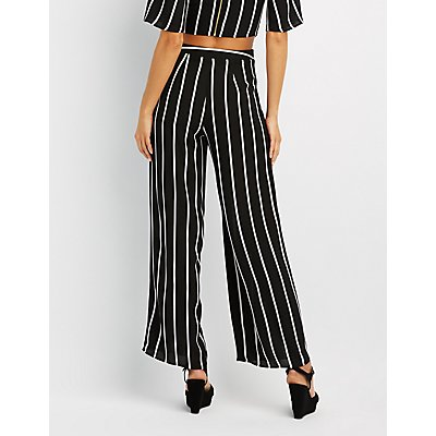 Striped Wide-Leg Pants