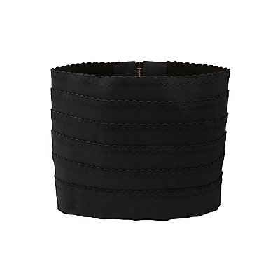 Scalloped Stretch Waist Belt