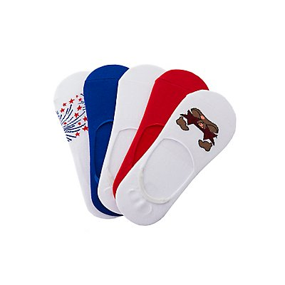 Assorted Firework Shoe Liners - 5 Pack