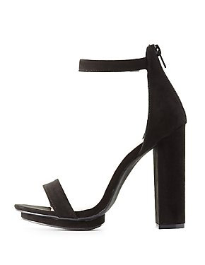 Two-Piece Block Heel Sandals