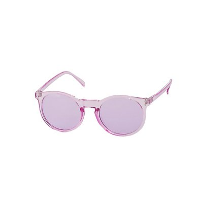 Clear Round Jelly Sunglasses