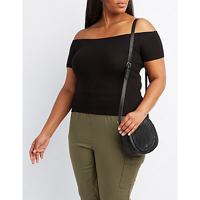 Ribbed Off-The-Shoulder Skimmer Top