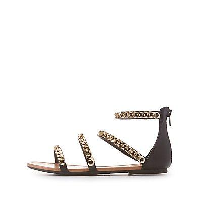 Chainlink Strappy Gladiator Sandals