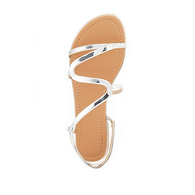 Metallic S-Shape Sandals