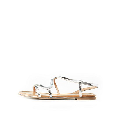 Metallic S-Shape Sandals