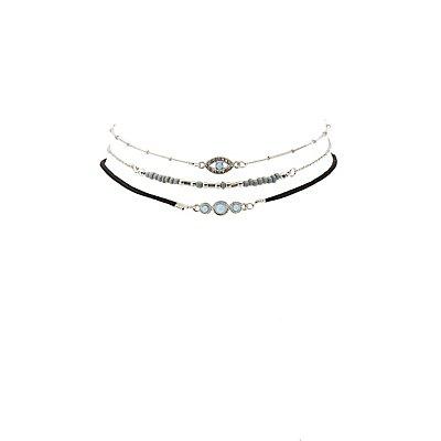 Beaded Boho Choker Necklaces -3 Pack