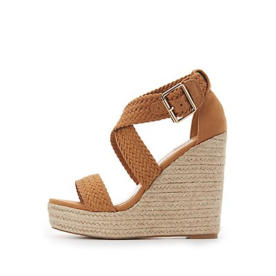 Braided Espadrille Wedge Sandals