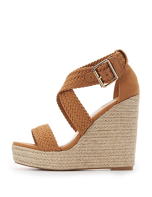 db171fe13d03 Images. Braided Espadrille Wedge Sandals ...