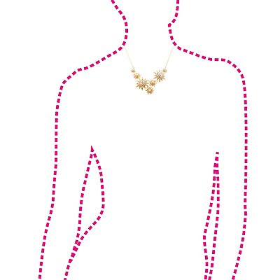 Crystal Stars Collar Necklace