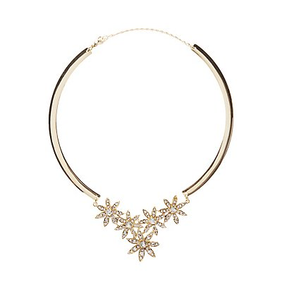 Embellished Flower Collar Necklace