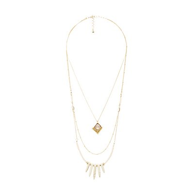 Beaded Chainlink Layered Necklace