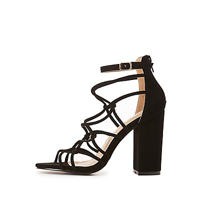 Knotted Caged Sandals