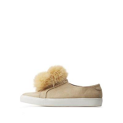 Pom Pom Slip-On Sneakers