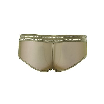 Lace & Mesh Hipster Panties