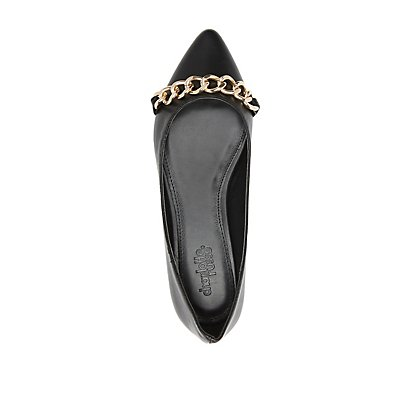 Chainlink Pointed Toe Flats