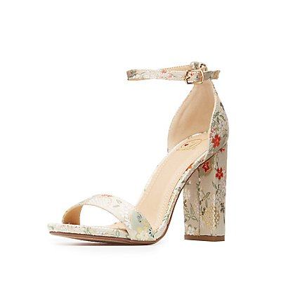 Brocade Two-Piece Sandals