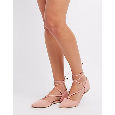 Lace-Up D'Orsay Flats