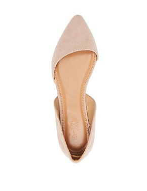 Pointed Toe D'Orsay Flats