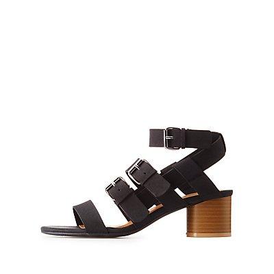 Buckled Chunky Heel Sandals