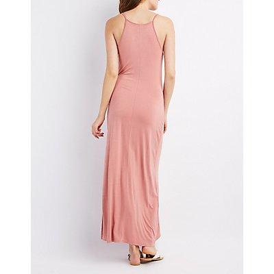 Lattice-Front Maxi Dress