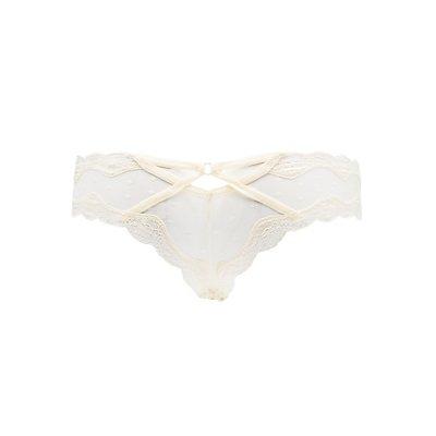 Lace-Trim Polka Dot Cheeky Panties