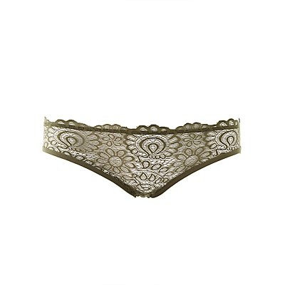 Lace-Front Hipster Panties