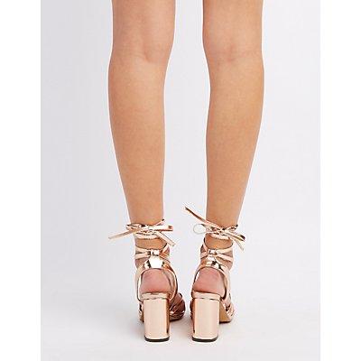 Lace-Up Block Heel Sandals