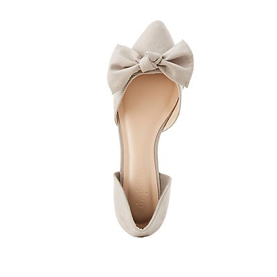 Knotted Pointed Toe D'Orsay Flats