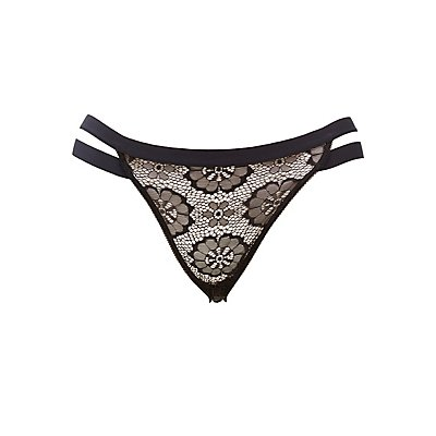 Plus Size Caged Lace Hipster Panties