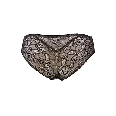 Plus Size Lace-Back Cheeky Panties
