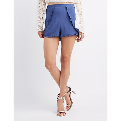 Ruffle-Trim Tulip Shorts
