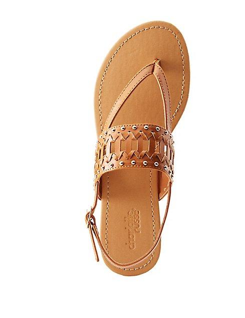689334b8c4f3 Studded Slingback Thong Sandals