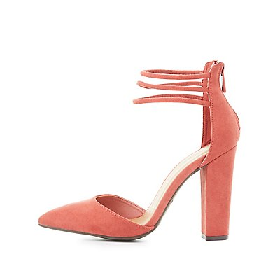 Strappy Pointed Toe Dress Heels