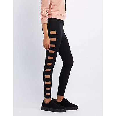 Caged High-Rise Leggings