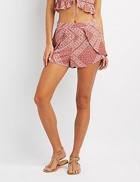 Paisley Tulip Shorts