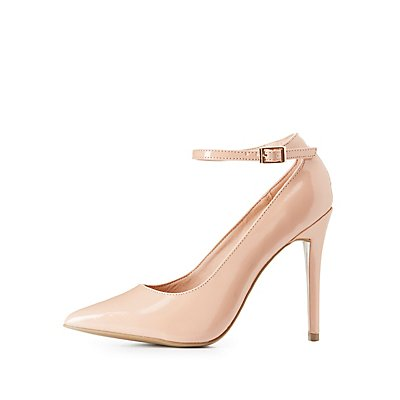 Ankle Strap Pointed Toe Pumps