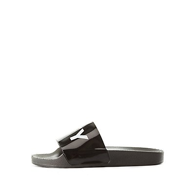Qupid Low Key Slide Sandals