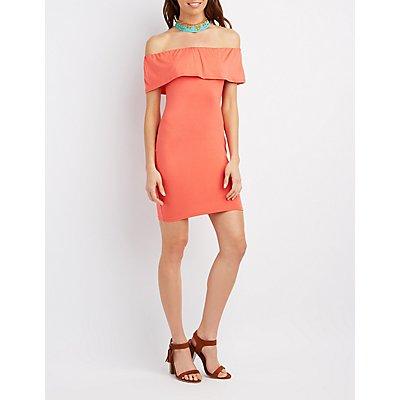 Off-The-Shoulder Tube Dress