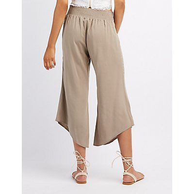 Asymetrical Cropped Gaucho Pants