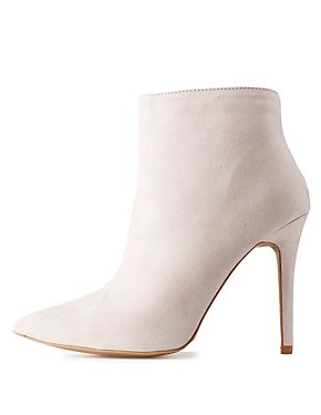 Qupid Pointed Toe Dress Booties