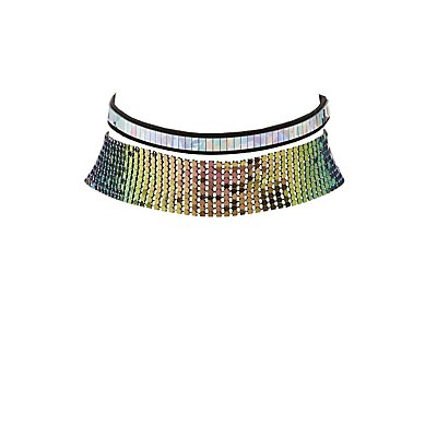 Iridescent Choker Necklaces -2 Pack