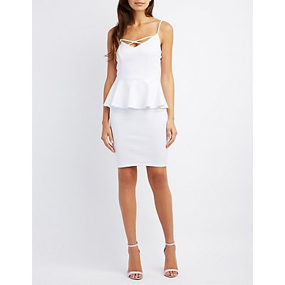 Strappy Peplum Dress