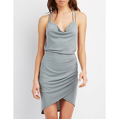 Strappy Halter Bodycon Dress