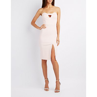 Cut-Out Sweetheart Bodycon Dress