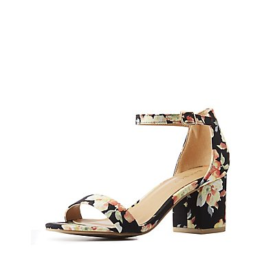 Bamboo Floral Two-Piece Sandals