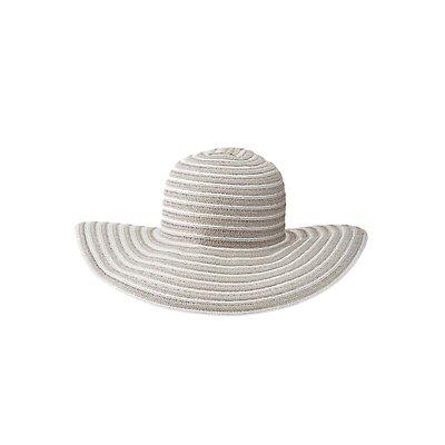 Mixed Weave Floppy Straw Hat
