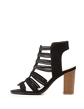 Caged Strappy Slingback Sandals